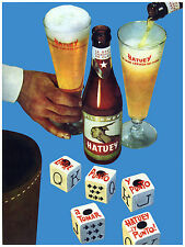 79.Art Decoration POSTER.Graphics to decorate home office.Hatuey Cuban beer Ad.