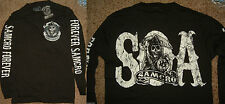Sons of Anarchy SOA Samcro Forever Reaper Long Sleeve Shirt Nwt
