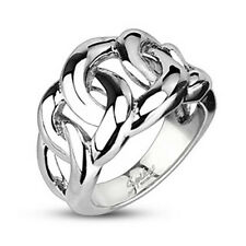 316L Stainless Steel Eternal Link Cast Polished Men Fashion Jewelry Ring