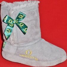 NEW Girl's Youth OREGON UNIVERSITY DUCKS Gray Booties Slippers Casual House Shoe