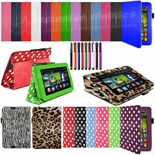 "Leather Smart Case Cover Stand For Amazon Kindle Fire HD 7"" inch With Sleep Wake"
