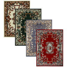"Oriental Floral Border Area Rug 5x8 Scrolls Persian Carpet- Actual 5' 2"" x 7 '4"""
