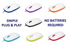 Gloss Finish 3 Button USB Optical Wheel Mouse with Rubber Scroll & LED Light