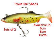 Trout shad soft baits x2  lures made by take lures Available in 6cm,8cm & 10cm