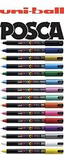 Uni-Ball POSCA Marker Pen Ultra-Fine PC-1MR Tip 15 Colours SINGLES / 12 PACKS
