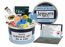 Boyfriend Survival Kit In A Can. Novelty Gift - Birthday or Valentine's Day Card