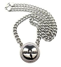 "NEW WU TANG PENDANT & 10mm/30"" CUBAN LINK CHAIN HIP HOP NECKLACE - XC260"