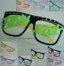 Colorful Lmfao Rave Party Rock Style No Lens Sun Glasses _Men or Women or Teens