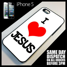 Cover for iPhone 5/5G Christ I Love Jesus Religious Christian Phone Case +r1