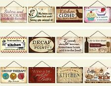 EVERYDAY WISDOM WOODEN SIGN COFFEE CHOCOLATE WINE KITCHEN DIET FOOD SISTER SIGNS