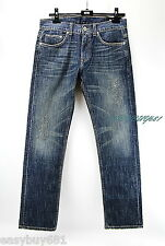 A|X ARMANI EXCHANGE J66 Distressed JEANS STRAIGHT 100% Cotton, Made in USA