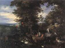 Photo Print Adam and Eve in the Garden of Eden Brueghel, Jan The Elder - in vari