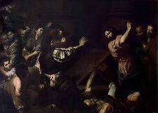 A4+ Size Print:Valentin De Boulogne Expulsion Money Changers From Temple #jwnh48