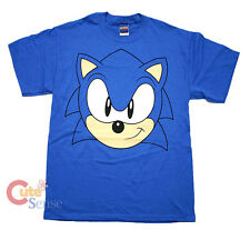 Sega Sonic The Hedgehog Sonic Big FaceT Shirts Adult Men Size T Shirt ( S to XL)
