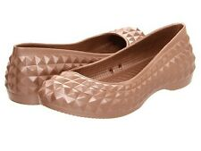 CROCS WOMENS SUPER MOLDED BRONZE FLAT  NEW FREE SHIPPING IN THE USA!