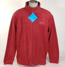 Columbia Sportswear Steens Mountain Burgundy Zip Front Fleece Jacket Mens NWT