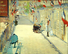 Art Photo Print - Rue Mosnier With Flags - Manet Edouard 1832 1883