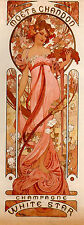 Art Print - Moet And Chandon White Star - Mucha Alphonse Maria 1860 1939