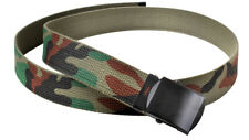 web belt military style woodland camo reversible rothco 4178