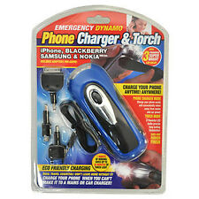 Emergency Dynamo Wind Up Phone Charger & Torch Universal Camping Mobile Charge