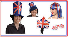 UNION JACK FANCY DRESS ACCESSORY UJ UK GB GREAT BRITAIN HAT PARTY FLAG BRITISH