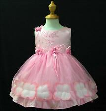 PP476 Pretty Pinks Fairytale Wedding Flower Girls Dress Outfit SIZE 1-2-3-4-5-6Y