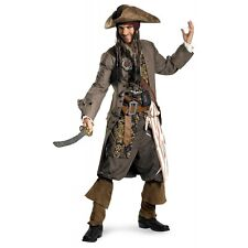 Jack Sparrow Costume Adult Deluxe Captain Pirates of the Caribbean Fancy Dress