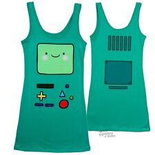 Adventure Time With Finn And Jake Beemo BMO Licensed Tunic Tank Dress S-XL