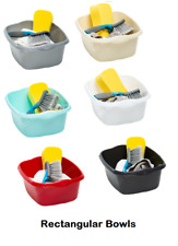 PLASTIC KITCHEN WHAM LARGE RECTANGULAR  WASHING UP BOWL BASIN CUTLERY TIDY