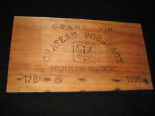 CHATEAU POUJEAUX Wine Crate PANEL Moulis Medoc BORDEAUX GRAND VIN