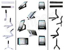 Tablet Tri Fold-Up Travel Desk Rest Stand Holder Dock For Vizio And Various