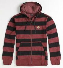 Volcom Stone Eds Basic Stripe Zip Hoodie Fleece Sweatshirt Jacket New NWT