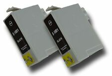 """2 Compatible Non-OEM Epson """"Rhino"""" T1001-4 (T1006) Black Ink Cartridge for Epson"""
