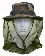 BOONIE HAT WITH MOSQUITO NETTING WOODLAND CAMO  COTTON POLY BLEND ROTHCO 5833