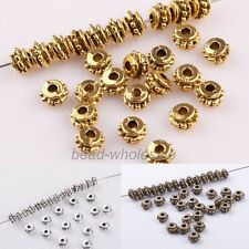 150pc Sillver/Gold Tibetan silver Antique Flower Decorative Pattern Spacer Bead