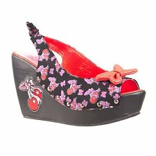 TOO FAST ROOTIN TOOTIN CHERRY WOMEN WEDGE  US SIZES