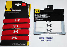 """Pack Of 4 UA Under Armour Unisex  ½"""" Performance Wristbands NIP many colors **"""