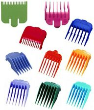 Wahl Clipper Combs - Multi-Coloured Plastic Professional - 10 sizes
