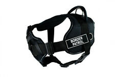 DT FUN w/ Chest Support Working Dog Harness in reflective trim - BORDER PATROL