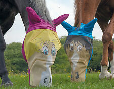 SHIRES HORSE FACE FLY MASK 6654P horse pony fly mask fly bug protection cartoon