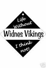 Widnes Vikings Car / Window Sign or Slap-on magnets Free UK p/p