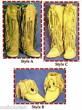Native American Shawnee Indian Moccasin Sewing Pattern - Ankle or Knee High