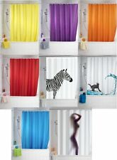 Shower Curtains Anti-Mould | 180 x 200cm Extra Long Drop | Rings Included