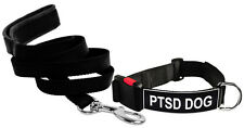 DT Dog Collar & Leash Bundle with Velcro Patch - PTSD DOG