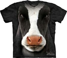 "New ""BLACK COW FACE"" TEE T-SHIRT MOUNTAIN ADULT SIZE S, M, L, XL, 2XL, 3XL"
