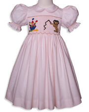 New Beautiful pink girls special occasion hand smocked circus dress 16775