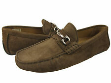Bally Mens Waffry Brown Suede Bit Slip-on Driving Drivers Casual Loafers Shoes
