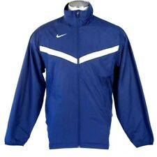 Nike Dri Fit Dark Blue Zip Front Mesh Lined Wind Track Jacket Mens NWT