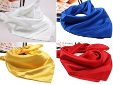 Fashion Lady/Man Silk With Spinning Mini Scarf Smooth Shawl Elegant Neckerchief