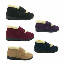 Ladies Slippers Panda Emee Slipper Boot With Velcro Size 5-10 Burg Nvy Cam Purpl